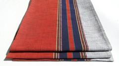 Japanese Obi (FurugiStar) Tags: blue red white home wall vintage table japanese grey antique gray stripe silk textile fabric hanging obi woven etsy decor runner weave striped tafa etsyjapan furugistar