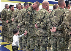 Welcome home (The National Guard) Tags: family home mi soldier army freedom us michigan military guard grandfather ceremony grandson homecoming national nationalguard soldiers welcome portage operation enduring ming guardsmen troops usarmy guardsman 507th miarng