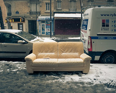 ... (Gabriel M.A.) Tags: snow paris france lumix métro slush couch sofa 4x5 cropped curb f25 14mm gf1 f32 panasoniclumixg14mmf25asph