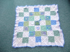 A very pretty patchwork blanket. Love the yarn. (MRS TWINS/SIBOL 'Sunshine International Blankets) Tags: squares elderly blankets crocheted sibol