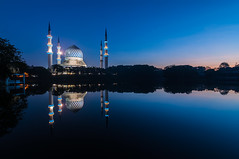 Blessings (Jessy Leo) Tags: reflection sunrise nikon mosque tokina ii sultan abdul f28 masjid aziz shah atx salahuddin d5000 1116mm