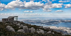 Mt Wellington, Hobart (HoaK Photography) Tags: city sky mountain clouds bay daylight eyes rocks mt view tasmania hobart lookingdown observationdeck mountwellington wellingtion