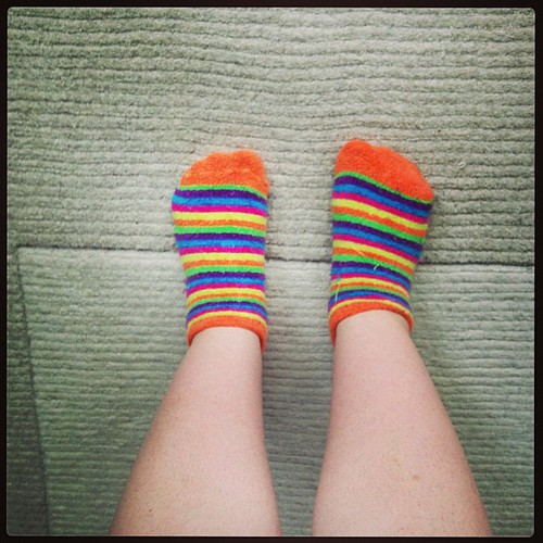 Colourful socks cheer me. #socks #happy365