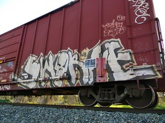 Sworne (Sk8hamburger) Tags: railroad art train painting graffiti paint tag rr boxcar graff piece lib tagging freight sworn paint spray sworne
