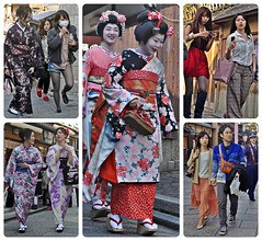 (Danburg Murmur) Tags: flowers stockings hat fence geotagged necklace sweater kyoto boots robe sandals mosaic telephone steps sneakers blouse maiko purse mobilephone slacks yukata pedestrians  nippon kimono obi plaid handbag nihon geta shoppingbag  shortshorts jeanshorts policeofficer   kanzashi kyto       nihonkoku nipponkoku  nihongami geo:lat=34996903162958446 geo:lon=1357810217142105