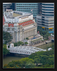 The Fullerton Hotel Singapore (Albert Photo) Tags: bridge tree hotel woods singapore asia swimmingpool singaporeriver thefullertonhotel