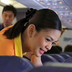 Cebu Pacific Stewardess (Setiritter) Tags: city girls portrait girl beautiful pretty philippines cebu pao filipina stewardess visayas mactan philippinen schön hübsch lapu