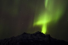 Northern Lights Cross Above Mount Fellows (Critter Seeker) Tags: sky nature alaska night canon easter outdoors nationalpark cross aurora nightsky denali northernlights auroraborealis goodfriday denalinationalpark 5dmarkii mygearandme
