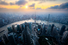 Shanghai (Patrick Foto ;)) Tags: china street city travel sunset holiday abstract building tower tourism skyline architecture modern night skyscraper cn river dark corporate evening office asia downtown commerce cityscape view shanghai traffic dusk district background chinese landmark center scene aerial business journey highrise destination metropolis pearl oriental orient trade financial metropolitan zone finance lujiazui shanghaishi