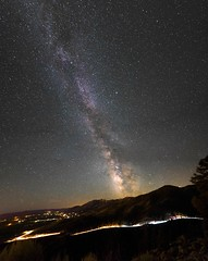 Darkness Helps Us All To Shine (ishootreno) Tags: mountains lighttrails nightsky nevada astrophotography milkyway