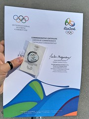 Certificado no final (CartasemPortador) Tags: rio 2016 voluntariado voluntrio olimpadas jogos olmpicos