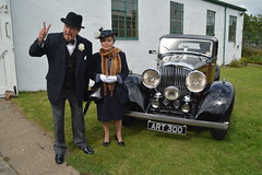 Winston Churchill gives a salute (masimage) Tags: hootonpark hooton park 1940s weekend 2016 wartime ww2 wwii soldier army navy raf usarmy jive dance thevictorygirls victorygirls victory girls belladonnabrigade belldonna brigade singers ensa vintage britain 40s reenactment reenactor