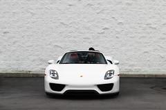 Nine Eighteen (Noah L. Photography) Tags: porsche 918 spyder white car sportscar supercar hypercar roadster convertible german lamborghininewportbeach newportbeach costamesa