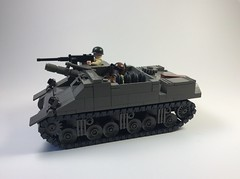 ODG M7B1 Priest (mjbricks(flose master)) Tags: tank lego old dark grey brickarms odg rumrunner mjbricks american wwii m7b1 priest