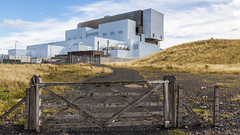 Torness nuclear power station (Innes2011) Tags: scotland torness nuclear power station coast gate wooden