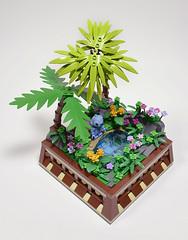 I'm Lost (Stitch) (Klikstyle) Tags: lego disney minifigure vignette liloandstitch landscape trees reflection flowers
