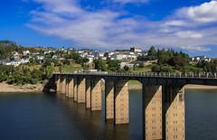 Portomarin (Carlos Pea Fernandez) Tags: galicia camino santiago puente rio mio cielo sky nubes pueblo bridge river clouds portomarin frances