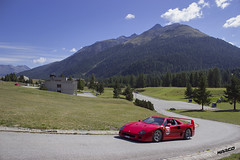 F40 at altitude (Iceman_Mark) Tags: ferrari f40 red rosso design pininfarina 30litre twinturbo v8 1990 1990s supercar summer passione engadina 2015 schanf stmoritz engadin graubnden switzerland alps