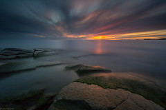 Autumn_ (JLindroos) Tags: long exposure sunset clouds rock sea horizon lee filters big stopper autumn finland pori canon zeiss jlindroos