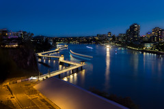 Brisbane Riverwalk (Photowik') Tags: brisbane riverwalk blue hour river night longexposure
