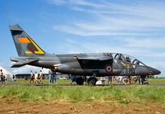 ALAN_POTTS_19870530_0003 (Spuggs) Tags: ayr ayrshire uk gbr glasgowprestwickairport prestwickairport hmsgannet pik egpk prestwickairshow airshow 8mqe141 dassaultalphajete edt18 armedelair frenchairforce faf jet military aircraft hasselbladx5