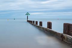 AUG 22 16 - WELLS-NEXT-THE-SEA (mrstaff) Tags: august222016 beach beachhut cloudy coastguard dredging groyne lifeboat longexposure martinstafford norfolk rnli ship wellsnextthesea windy