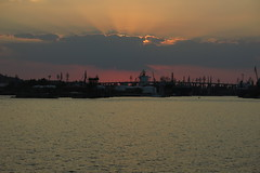 Port Varna (lyura183) Tags: bulgaria  varna  blacksea sea   port  sunset