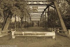 Old 1910 Merced Bridge B&W (NormFox) Tags: bridge mercedriver old steeltruss canon eos 760dt6s stanislaus county merced california bw monochrome blackandwhite architecture outdoor landscape