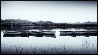 Boats on Estany de Banyoles