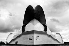 Auditorio de Tenerife (carlosvmartin) Tags: reto personas diminutas architecture bnw tenerife nikon spain