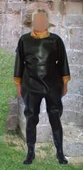 Japanese Wadersuit (Rubfriend) Tags: rubber wadersuit
