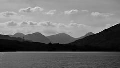 Loch Katrine and the Arrochar Alps (brightondj - getting the most from a cheap compact) Tags: thirdwalk scotlands loch water landscape trossachs lochkatrine bw arrocharalps mountains