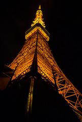 Tokyo Tower (HansPermana) Tags: tokyo japan nippon holiday city cityscape architecture tower tokyotower nightshot illuminated lights tall modern structure landmark