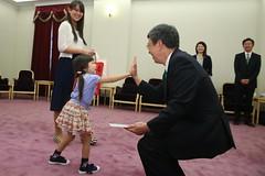 09.19 副總統和日本女性太空人山崎直子家屬打招呼