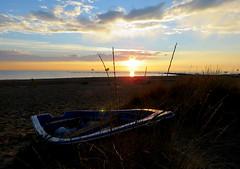 IMG_0088x (gzammarchi) Tags: italia paesaggio natura mare ravenna lidodidante alba sole nuvola riflesso barca