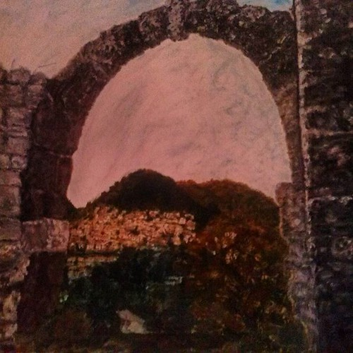 #l'arco del casaletto #roccadibotte #painting #tela