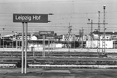 Lost Places (Ronny-1976) Tags: 131 19c 730min adoxsilvermax100100 architektur bahn bahnhof hc110 leicam2 leipzig sw schilder