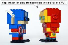 Snotheadz (Oky - Space Ranger) Tags: lego marvel super heroes captain america civil war iron man tony stark brickheadz snot