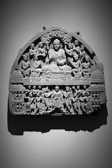 Stone Relief (K.G.Hawes) Tags: chazenmuseumofart art black white bw monochrome monochromatic shadow shadows museum sculpture madison wisconsin india indian religion religious mythology mythological relief