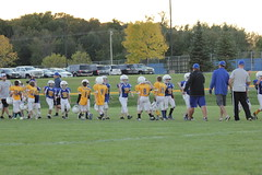 1470 (bubbaonthenet) Tags: 09292016 game stma community 4th grade youth football team 2 5 education tackle 4 blue vs 3 gold