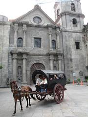 San Augustin Church, Intramuros, Manila (omnia2070) Tags: philippines manila intramuros san augustin church oldest horse carriage