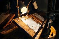 Calligraphy in authentic old shop / Kalligraphie in authentischen alten Werkstatt