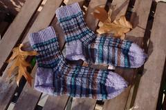 Blue striped socks (II) (dididumm) Tags: socks blue green brown stripey striped stripes wool knit knitting handcraft selfmade handarbeit stricken wolle stricksocken socken gestreift ringelsocken blau grn braun