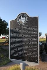 The Red River, Burkburnett, Texas Historical Marker (TexasExplorer98) Tags: river texas historic redriver texashistoricalmarker burkburnett wichitacounty