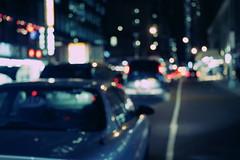 Traffic Jam (Génial N) Tags: usa ny newyork car night america traffic pentax manhattan citylights nightlight nycity missfocus pentaxk01