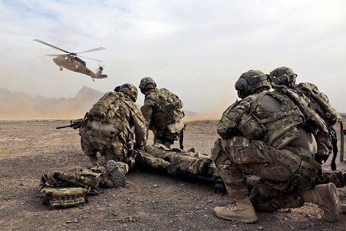 U.S. Military forces in Afghanistan.