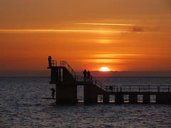 Blackrock Sunset (flowerpotman!) Tags: ireland black galway rock fuji salthill diving 20 hs swiming hs20