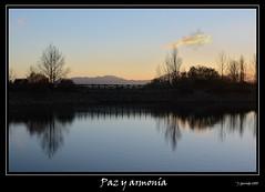 Paz y armonía (Pogdorica) Tags: lago atardecer agua paz reflejos armonia cruzadas flickraward cruzadasgold