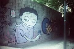000673400010 ([ iany trisuzzi ]) Tags: streetart film analog 35mm graffiti xpro crossprocess sãopaulo expired olympustrip35 kodakektachrome100plus vilaolímpia rewinded