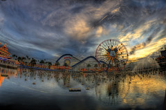 24/365. (chris.alcoran) Tags: california sunset sky wheel bar clouds canon project fun photography pier paradise little cove photoaday grotto 365 mermaid cloudporn ariels mickeys disneycaliforniaadventure screamin project365 skyporn photoaday365